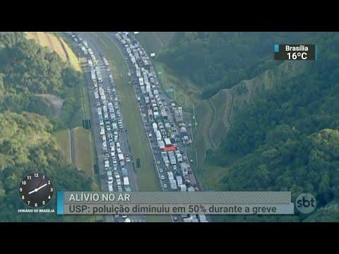 SP teve redução de 50% nos poluentes do ar durante greve dos caminhoneiros | SBT Brasil (31/05/18)
