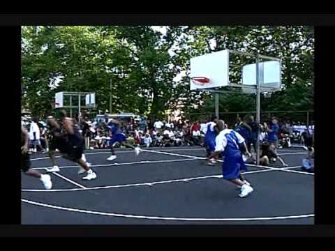 Dr. J Plays Basketball with Friends Philadelphia 52nd & Parkside June 1999