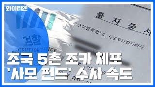 검찰, 조국 5촌 조카 체포...'사모펀드' 대표 재소환 / YTN
