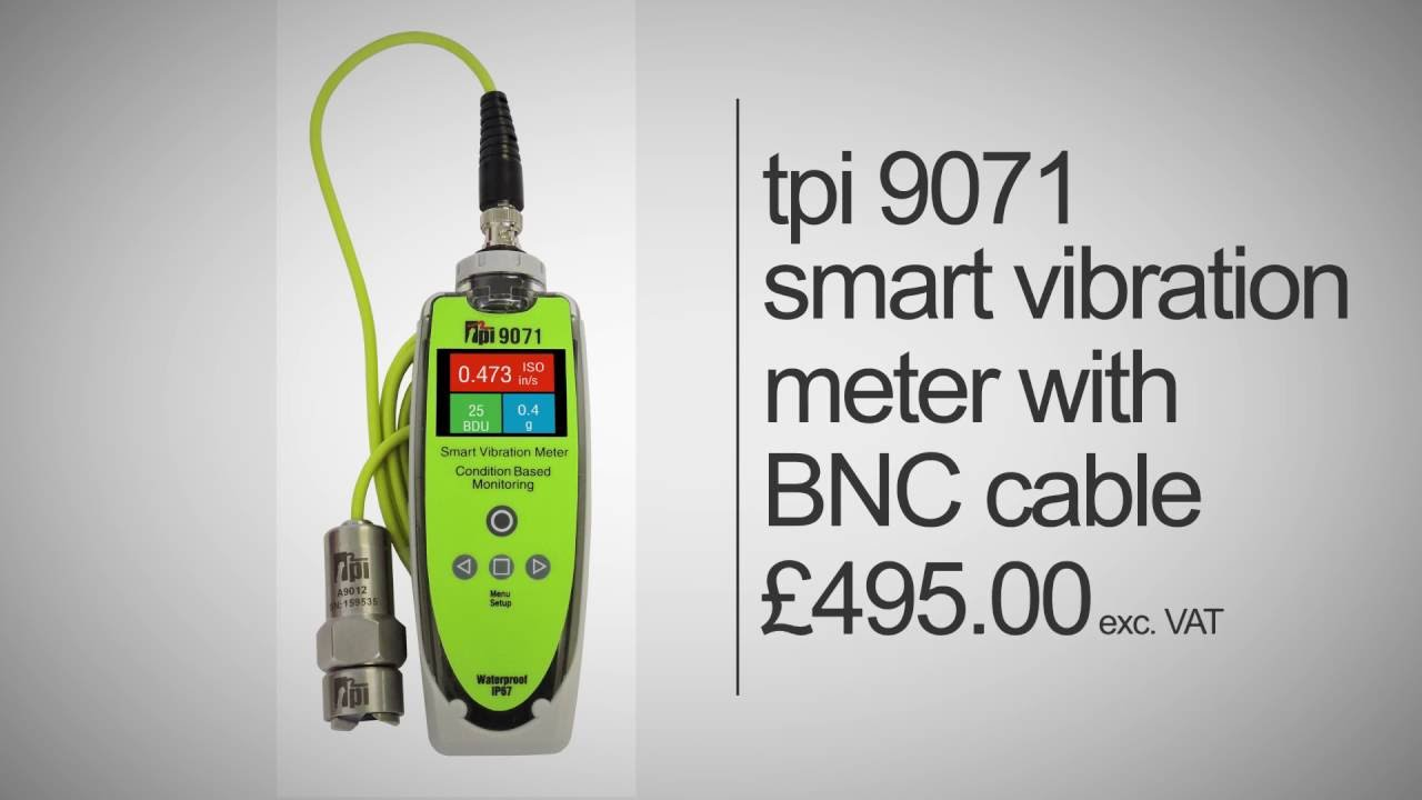 9071 Smart Vibration Meter BNC Cable Accelerometer with Magnet