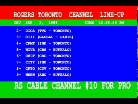 Rogers Cable Toronto Channel Guide September 1988