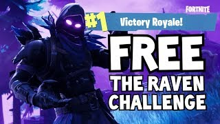 FORTNITE FREE RAVEN CHALLENGE! *SPEND 5 MIN IN STORM, ELIMINATE OPPONENTS IN STORM, WIN THE GAME*