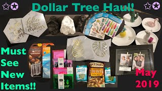 Dollar Tree Haul! Must see new items!!- May 11, 2019