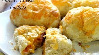 Ham and Cheese Pockets - 3 Ingredients