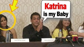 Salman Khan calls Katrina his BABY in front of Jacqueline Fernandez