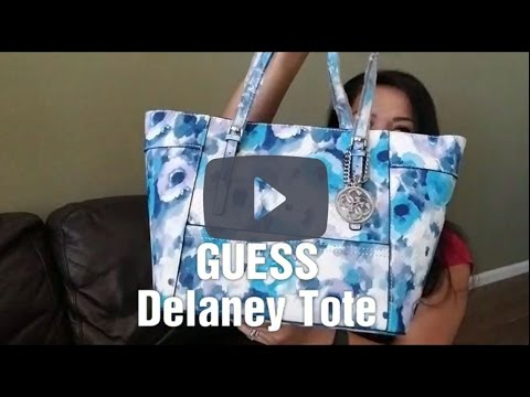 853302d11cf5 GUESS Delaney Classic Tote Review - YouTube