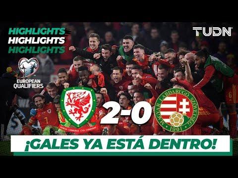 Highlights   Gales 2 - 0 Hungra   UEFA EURO Qualifiers - G-E -J10   TUDN