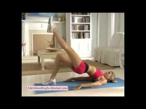 core exercises without equipment for women. bridge exercise.