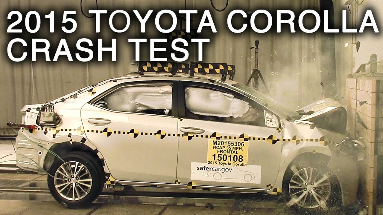 2015 2016 toyota corolla frontal crash test youtube. Black Bedroom Furniture Sets. Home Design Ideas