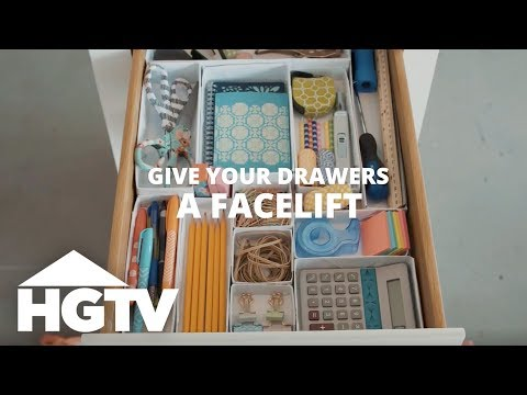 How to Organize Drawers - Easy Does It - HGTV