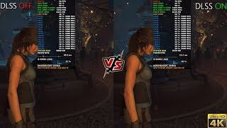 Shadow Of The Tomb Raider Max Settings , RTX OFF, DLSS ON VS OFF, 4K | RTX 2080 Ti | i9 9900K 5GHz