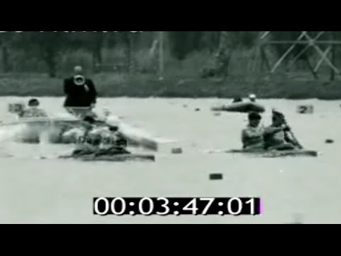 1968 Mexico Olympic, Canoeing, Men's K2 1000 m final. 16:9