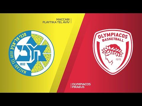 Maccabi Playtika Tel Aviv - Olympiacos Piraeus Highlights | Turkish Airlines EuroLeague, RS Round 19