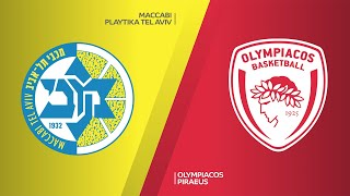 Maccabi Playtika Tel Aviv - Olympiacos Piraeus Highlights | Turkish Airlines EuroLeague, RS Round 19