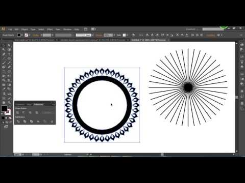 How To Duplicate Objects Around A Circle In Adobe Illustrator Tutorial