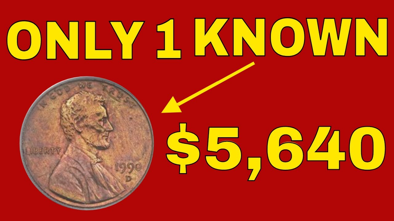 Super rare 1990D penny sells in 2018 for $5,640! Check your change for this  rare penny worth money!