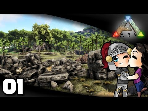 Welsknight & Wifey Play ARK  Ep 1: A New Adventure!