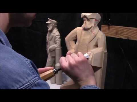 Sea Captain Woodcarving - Roughing Out