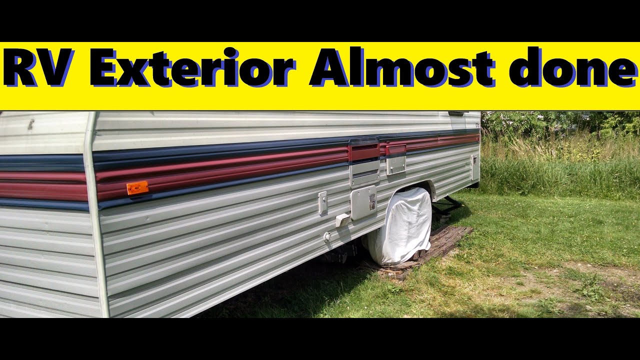 Rv Roller Paint Job Almost Done Youtube