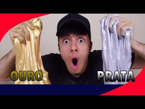 SLIME DE OURO VS SLIME DE PRATA (METÁLICO)