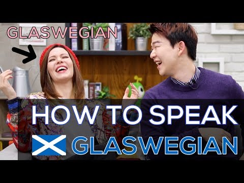How To Speak GLASWEGIAN With A REAL GLASWEGIAN | Accent Challenge  [Korean Billy]