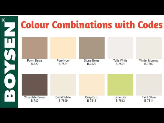 You can settle for one wall to paint a contrasting and bright color even in spaces open to the rest of the rooms. Boysen Paint Colors With Codes Philippines Boysen Paint Colors Chart Boysen Paint Colors For Room Youtube