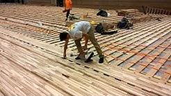la salle gym flooring install 1