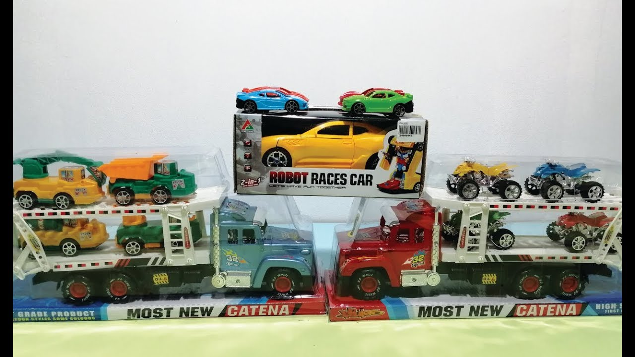 Car Toys For Kids Yellow Bumblebee Transformers Excavator