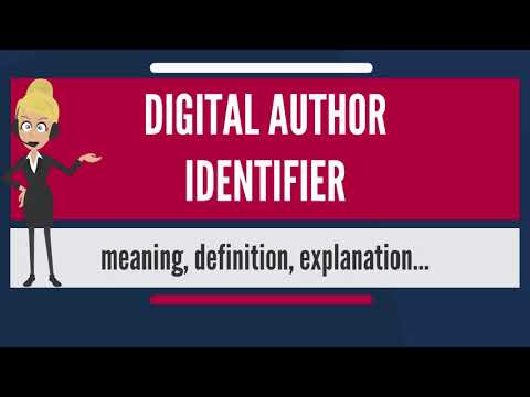 What is DIGITAL AUTHOR IDENTIFIER? What does DIGITAL AUTHOR IDENTIFIER mean?