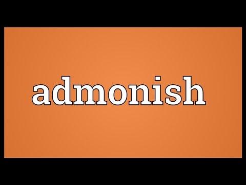 Admonish Meaning