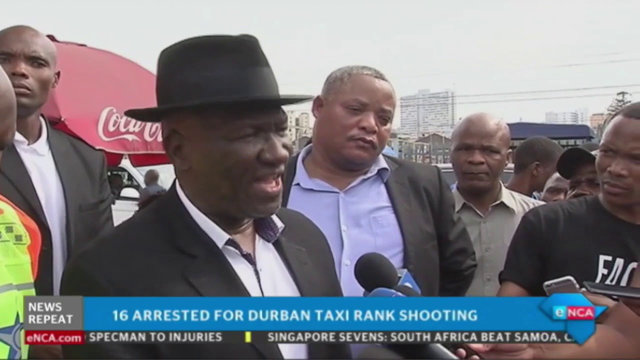 South African police Minister Cele addresses Durban taxi violence.