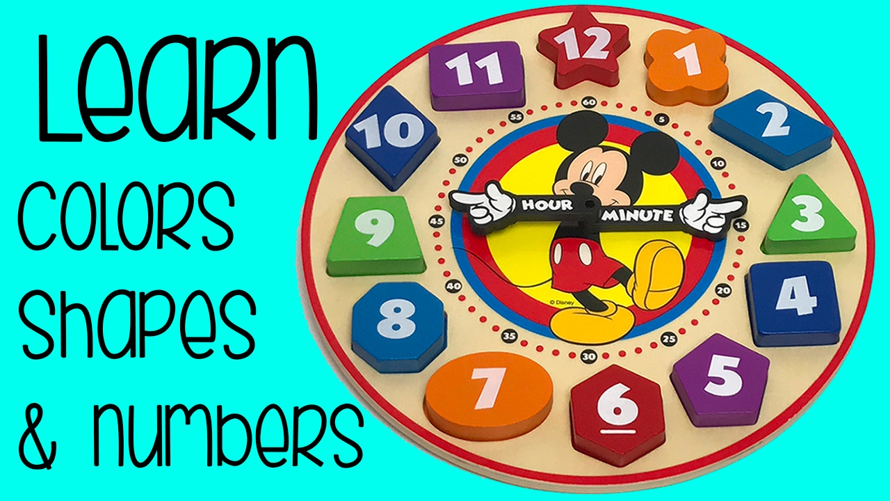 Best Colors, Shapes, and Numbers Learning Video with Disney Mickey ...