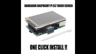 banggood raspberry pi 5 inch HDMI touch screen install