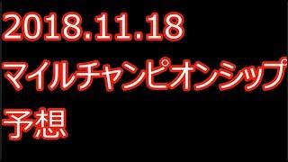【競馬予想】2018.11.18 マイルチャンピオンシップ 予想 100万円 1点勝負 thumbnail