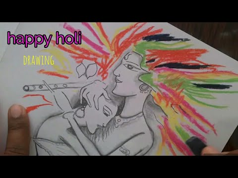 How To Draw Holi Drawing Easy Holi Festival Easy Drawing For Kids