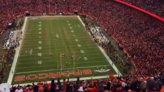 Broncos vs Patrios AFC Championship game last 8minutes of the game