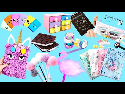 30 Easy DIY Amazing School Supplies - Cute Crafts for Back To School