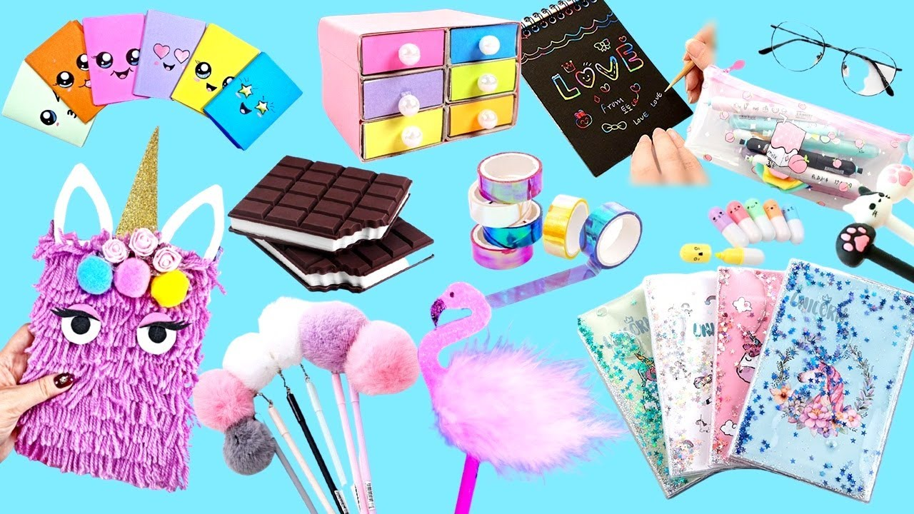 30 Easy DIY Amazing School Supplies - Cute Crafts for Back To School