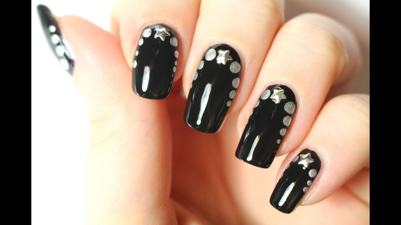 nail art de f te chic et rapide nail art facile youtube. Black Bedroom Furniture Sets. Home Design Ideas