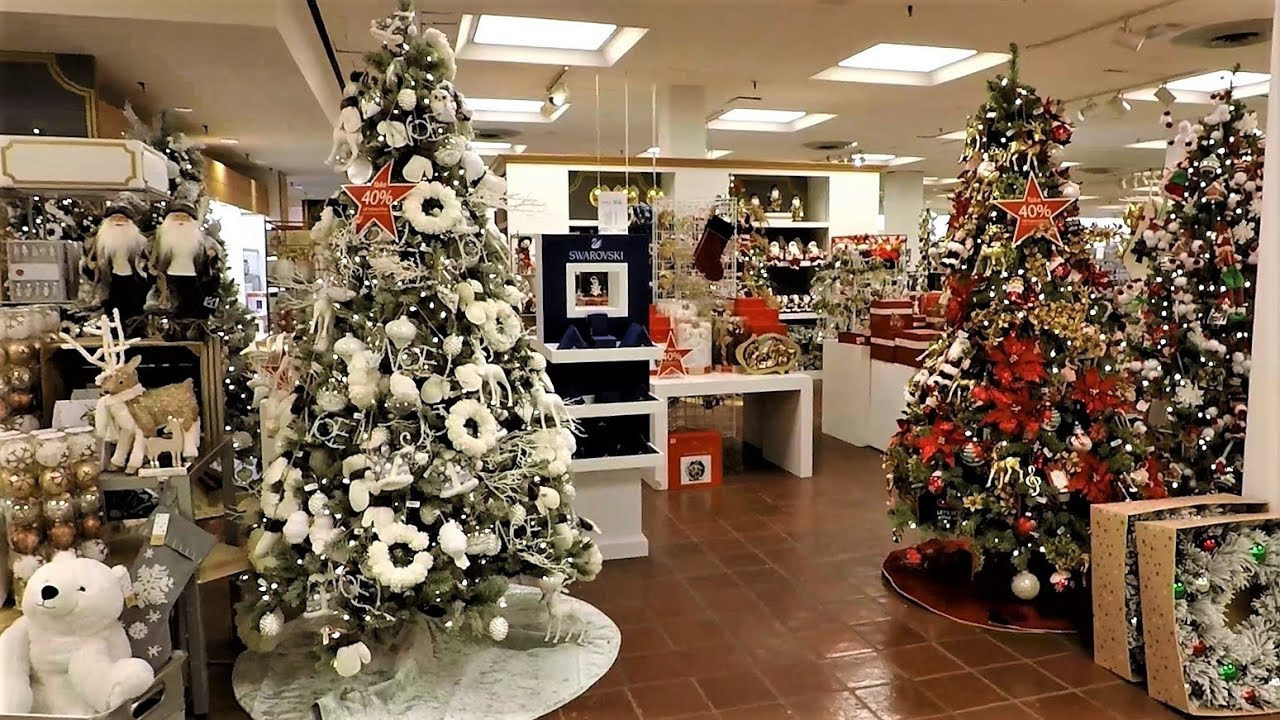 Macys Christmas Tree.4k Christmas Section At Macy S Christmas Shopping Christmas Trees Decorations Ornaments Macys