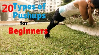 20 Types of Pushups every Beginner should learn