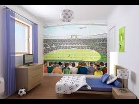 Decoracion de cuartos de futbol de ni os 4 youtube for Decoracion para ninos