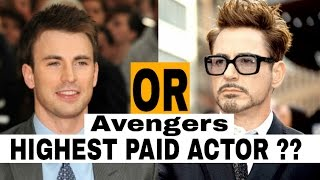 Highest Paid Actors of : Avengers Age of Ultron