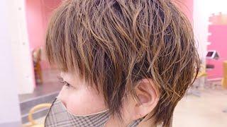 大人のブリーチパーマで、白髪ぼかし!#パーマのかけ方 #パーマ #ケアパーマ 【FIX-UP SHIBUYA 宇賀治】