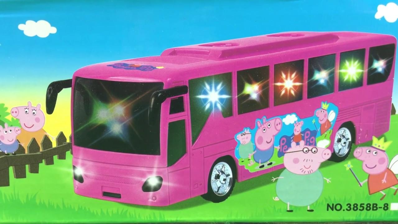 粉紅小豬佩奇聲光公共汽車玩具 - YouTube