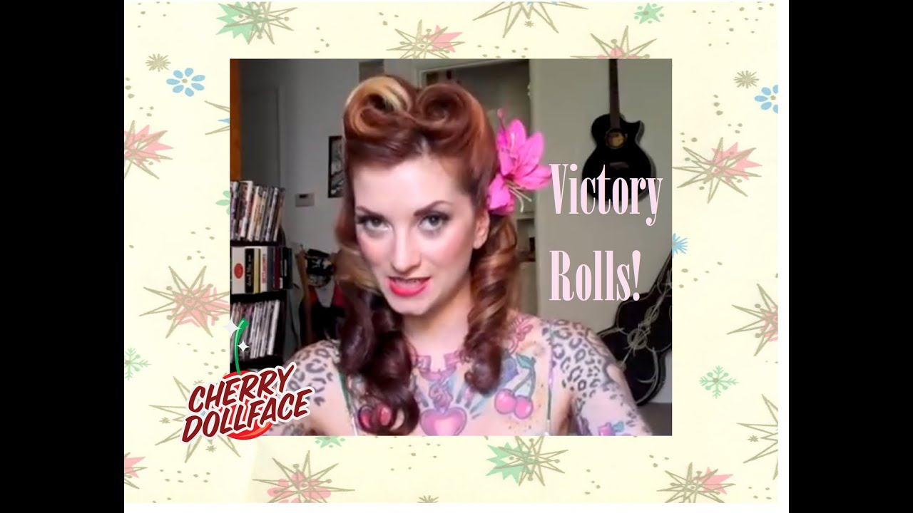 Victory Roll Vintage Hair Tutorial By CHERRY DOLLFACE.   YouTube