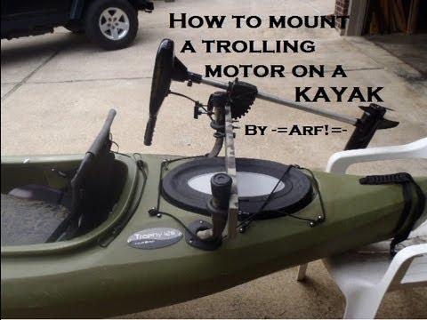 Mount a trolling motor on a kayak cheap ibowbow for Cheap saltwater trolling motor