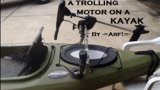 Mount a trolling motor on a KAYAK