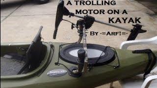 Mount a trolling motor on a KAYAK - Cheap