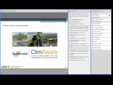 CLIMAWARE Project - Impacts of climate change on water resources management in Europe